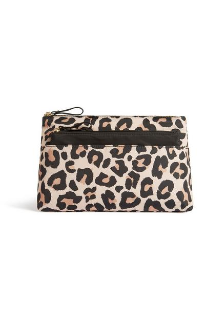 Make-up-Tasche mit Leoparden-Print