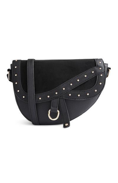Črna sedlasta torba