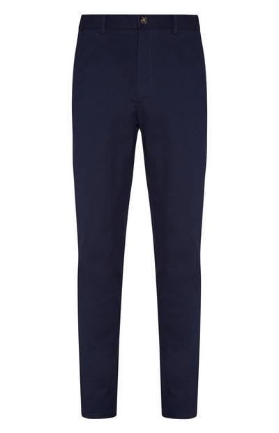 Pantalón entallado azul marino