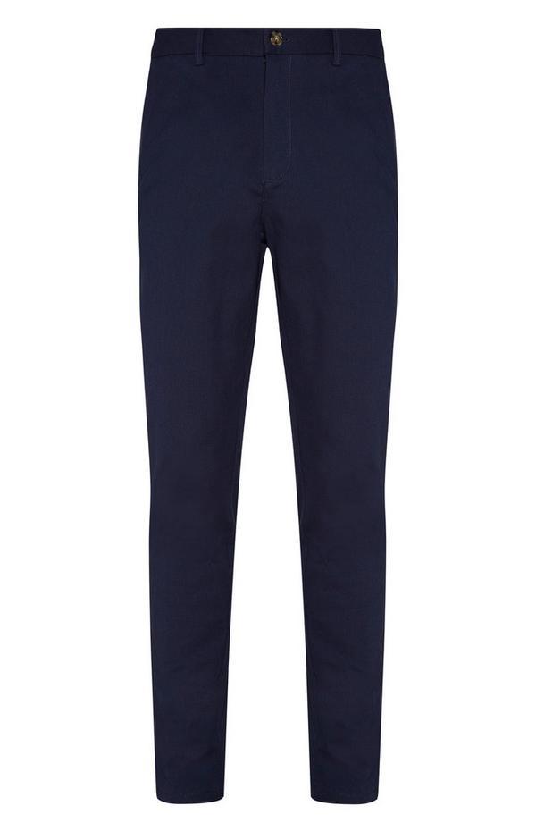 Donkerblauwe slim-fit broek