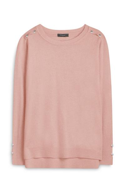 Pink Supersoft Crew Neck Sweater