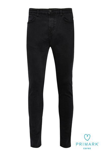 Calças ganga skinny algodão sustentável preto