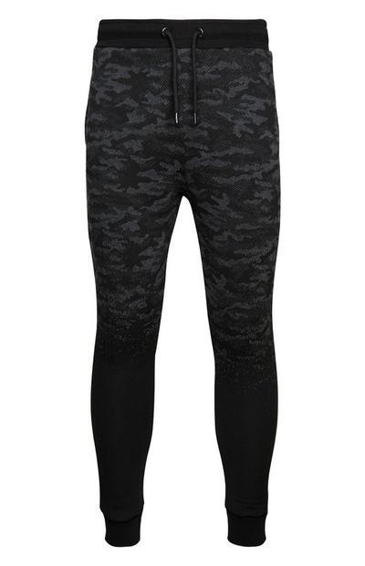 Zwarte legging met camouflageprint