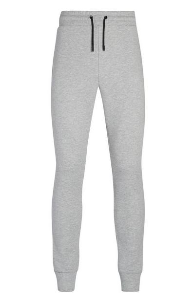 Grey Cuff Ankle Joggers