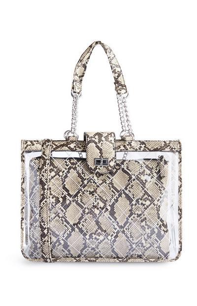 Nakupovalna torba s krokodiljim vzorcem
