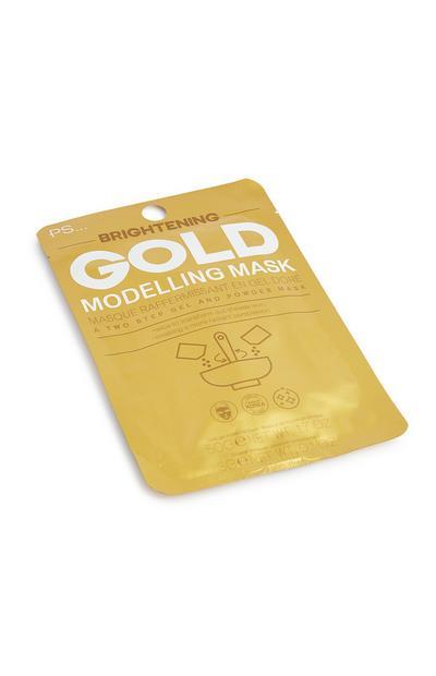 Máscara facial modelação dourado