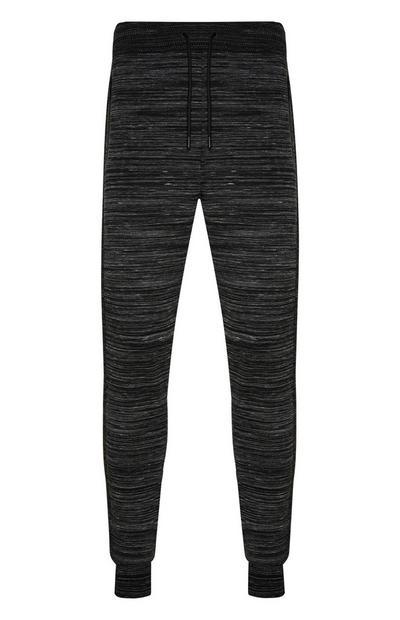 Dark Grey Striped Joggers
