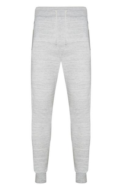 Grey Fitted Ankle Joggers