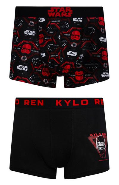 Star Wars Red And Black Boxer Shorts