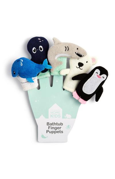 Tier-Fingerpuppen für die Badewanne