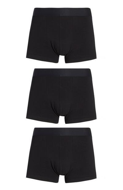 Pack 3 cuecas hipster algodão Pima preto