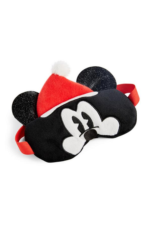 Zwart Mickey Mouse-oogmasker in kerstsfeer