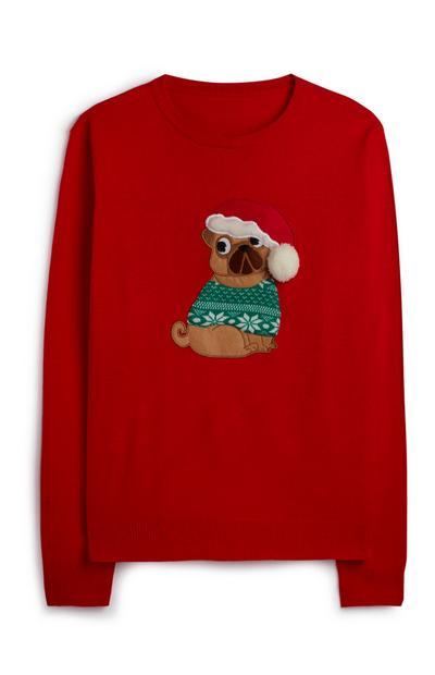 Red Dog Christmas Jumper