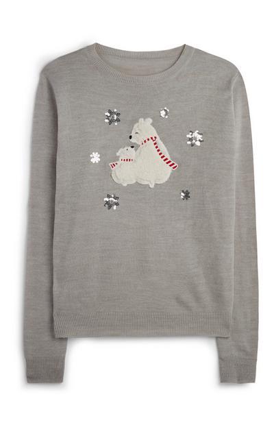 Božični pulover s polarnim medvedom