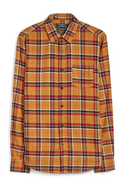 Yellow Check Flannel Shirt