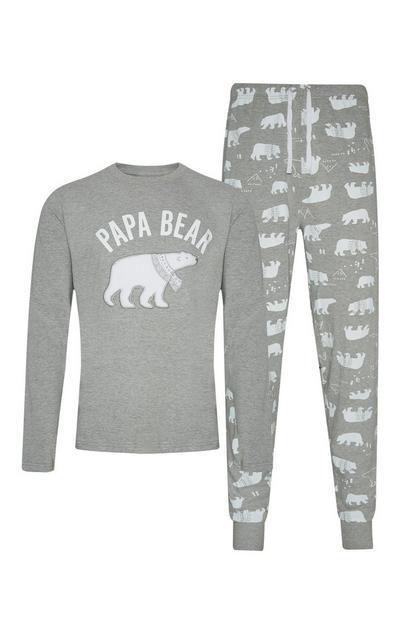 Pyjama gris Papa Bear