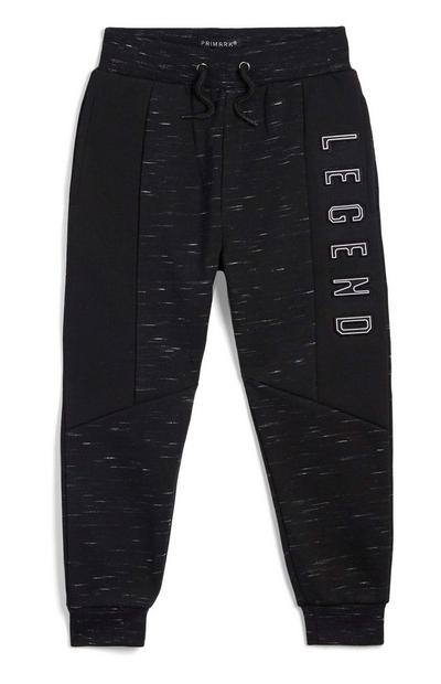 Younger Boy Black Marl Jogger