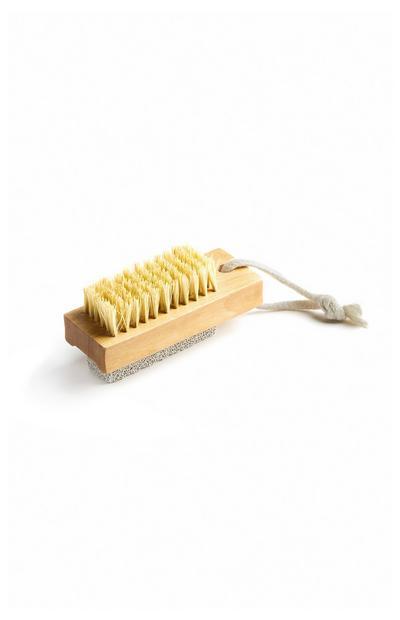 Escova unhas madeira natural