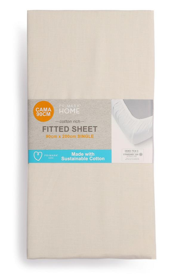 Spannbettlaken aus Baumwolle, Einzelbett