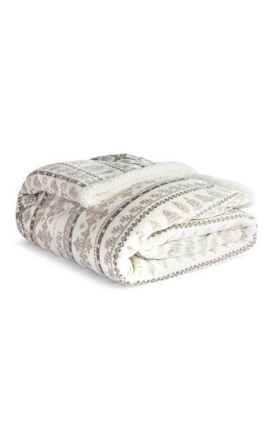 Fairisle Sherpa XL Throw