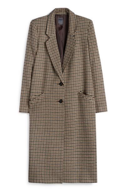 Manteau marron à carreaux