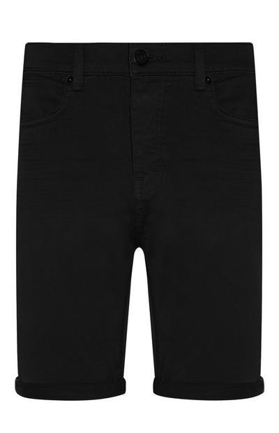 Short noir stretch