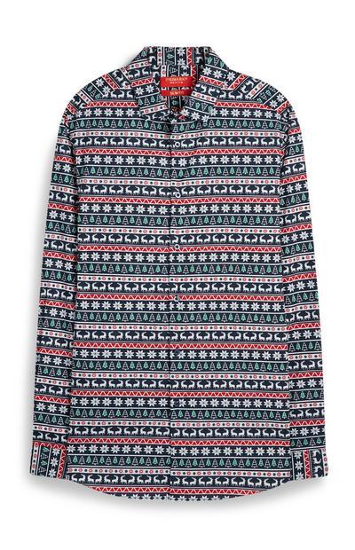 Camisa Natal padrão Fairisle
