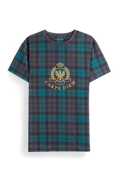 Blue Check Crest T-Shirt