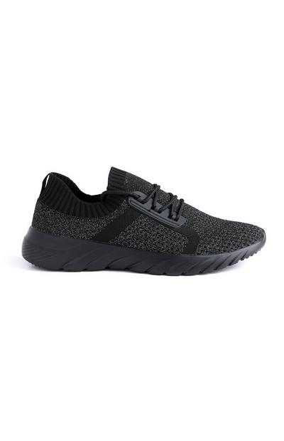 Black Knit Trainers