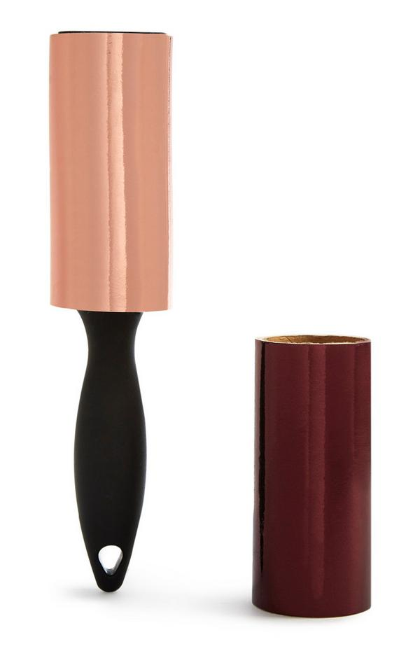 Burgundy And Pink Lint Roller With Replacement