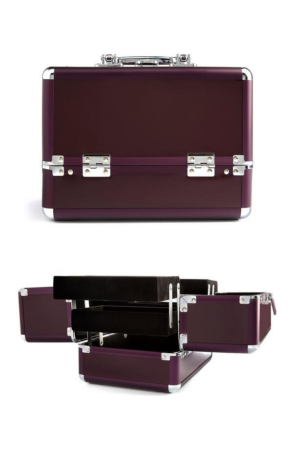 Medium Sized Purple Vanity Case