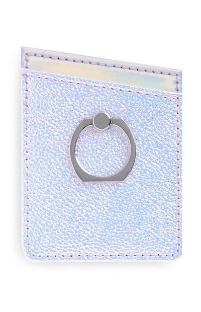 Tarjetero con diseño holográfico