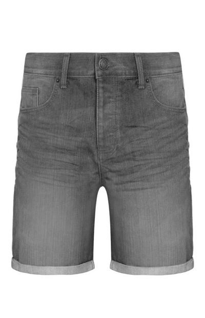 Grijze denim short