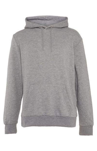 Grey Basic Pull Over Hoodie