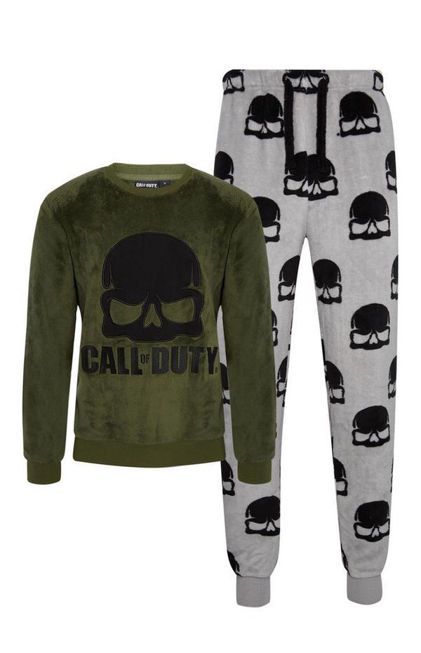 "2-teiliges ""Call Of Duty"" Pyjamaset in Khaki"