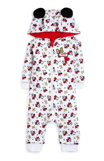Baby Girl Minnie Mouse Hooded Onesie
