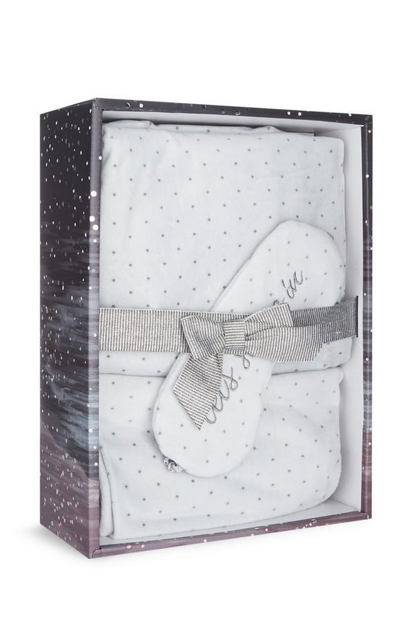 Siva izredno mehka pižama v darilni škatli