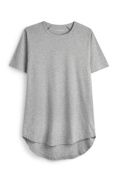 Siva majica z daljšim zadnjim delom