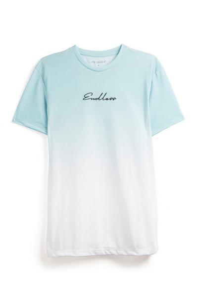 T-shirt turquoise dégradé Endless