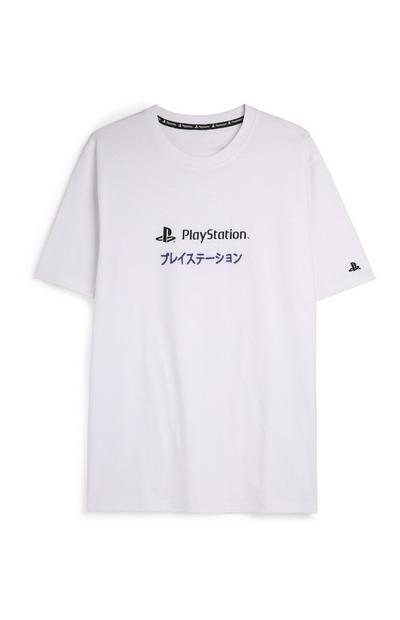 T-shirt blanc à motif Playstation