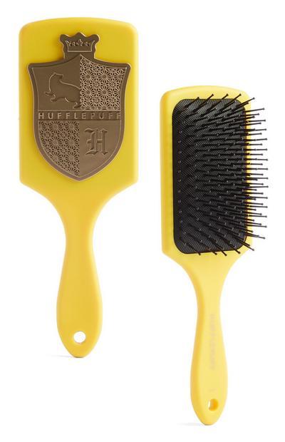 Yellow Harry Potter Hufflepuff Paddle Brush