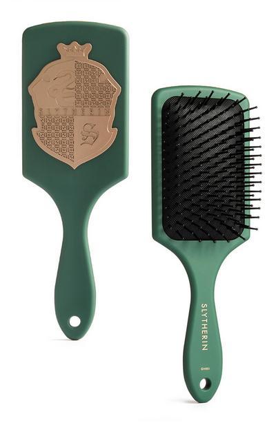 Green Harry Potter Slytherin Paddle Brush