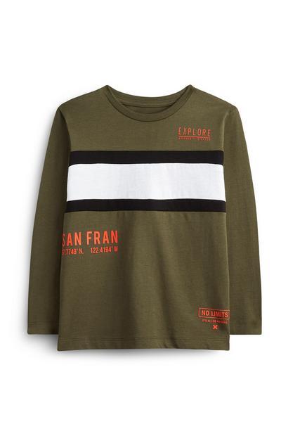 Kaki majica San Fran za starejše fante