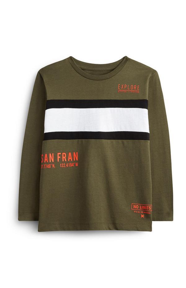 Younger Boy Olive San Fran T-Shirt