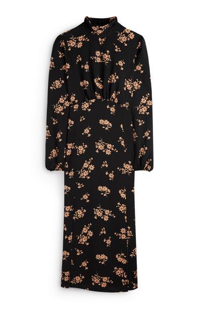 Gebloemde halflange jurk