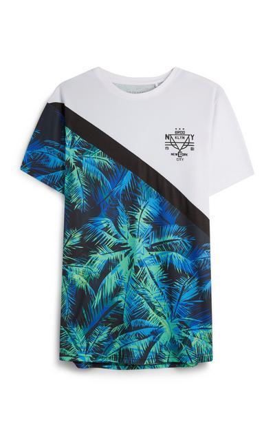T-shirt estampado palmeiras