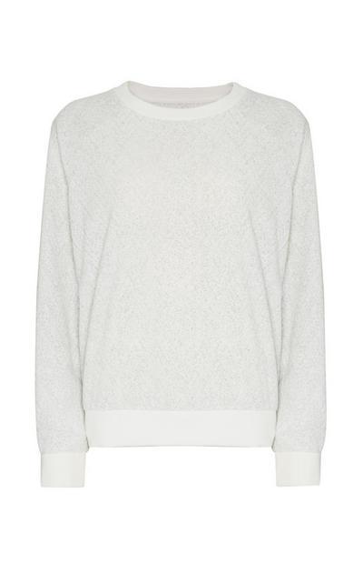 T-shirt gris en sherpa