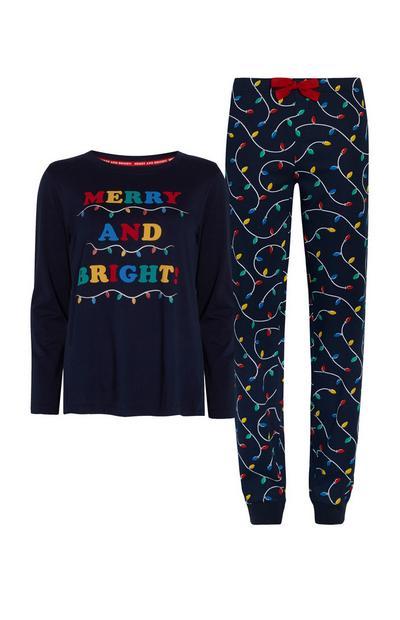 Merry And Bright Christmas Pyjamas