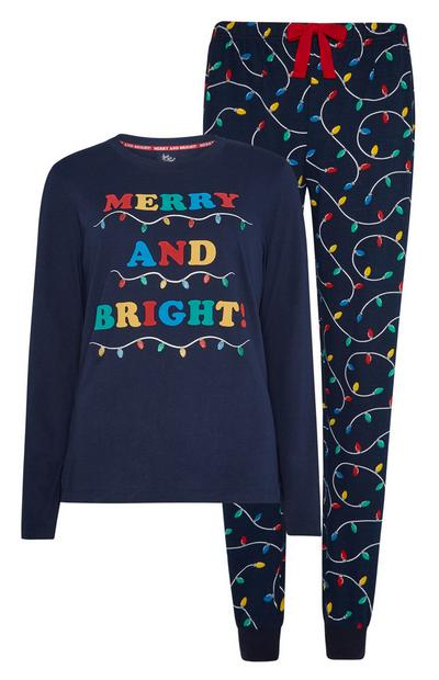 Merry And Bright Christmas Pj Set