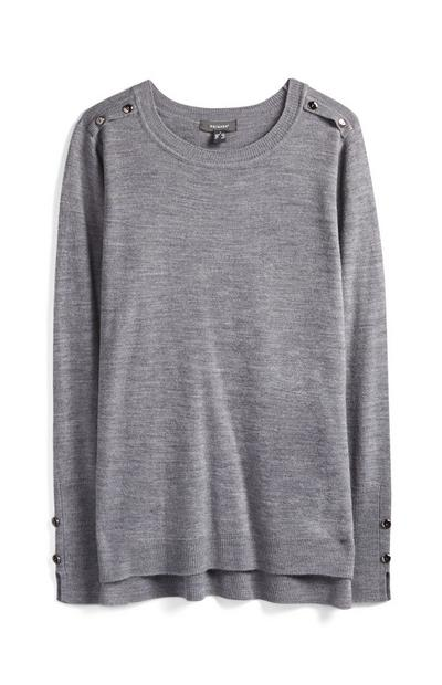 Gray Supersoft Crew Neck Sweater